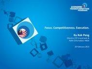 Focus. Competitiveness. Execution. Ku Kok Peng - MPC