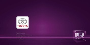 Toyota Motor Europe Product Communications Division Avenue du ...