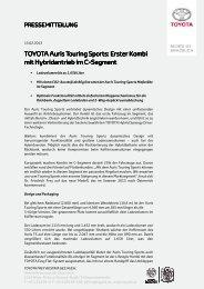 TOYOTA Auris Touring Sports: Erster Kombi mit Hybridantrieb im C ...