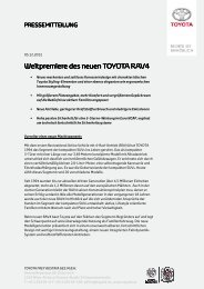 Weltpremiere des Weltpremiere des neue neue neuen TOYOTA ...