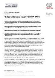 Presseinfo RAV 4 2013 - Toyota Feichtmayr