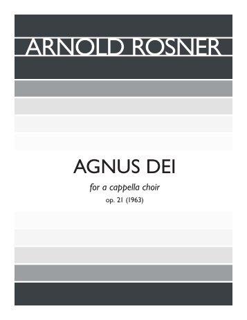 Rosner - Agnus Dei, op. 21