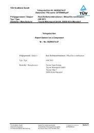 TÜV Kraftfahrt GmbH Institut für Verkehrssicherheit ... - Toyota-tech.eu