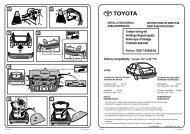 Vehicle compatibility: Corolla *E111L-DL***W ... - Toyota-tech.eu
