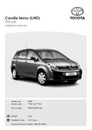 Corolla Verso (LHD) - Toyota-tech.eu