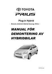MANUAL FÖR DEMONTERING AV HYBRIDBILAR - Toyota-tech.eu