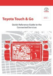 Toyota Touch & Go Connected Services - Toyota-tech.eu