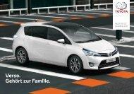 Verso. Gehört zur Familie. - Toyota