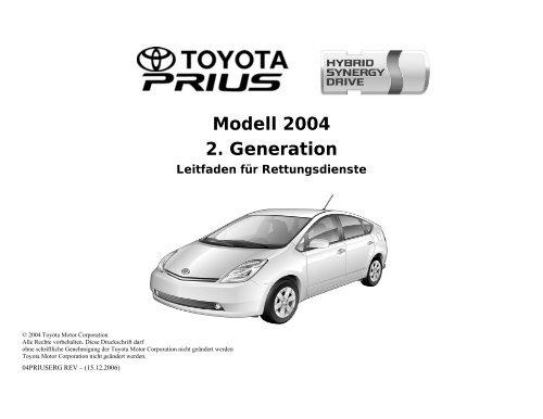Prius 2nd ERG - Toyota-tech.eu