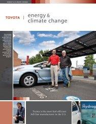 energy & climate change - Toyota