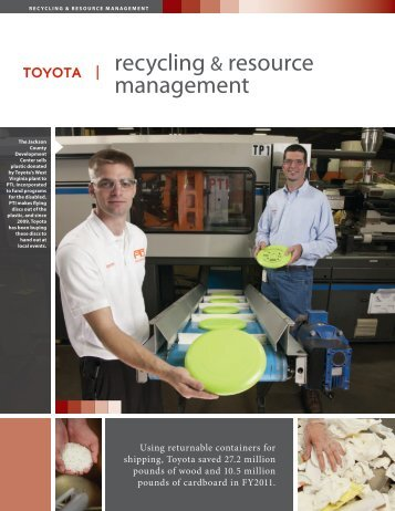 recycling & resource management - Toyota