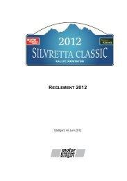 REGLEMENT 2012 - Motor Klassik