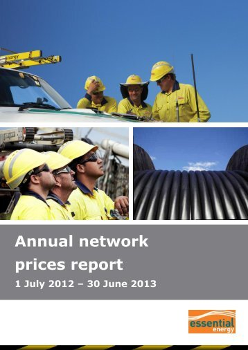 Annual network prices report 1 July 2012 - Essential Energy