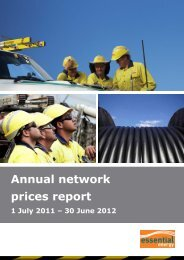 Annual network prices report 1 July 2011 - 30 ... - Essential Energy
