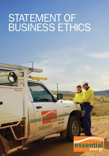 Statement of Business Ethics - Essential Energy