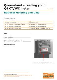QLD Meter Card Q4 CT-WC - Essential Energy