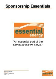 Sponsorship Essentials - Essential Energy