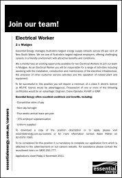 Join our team! - Essential Energy