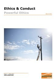 Powerful Ethics - Essential Energy