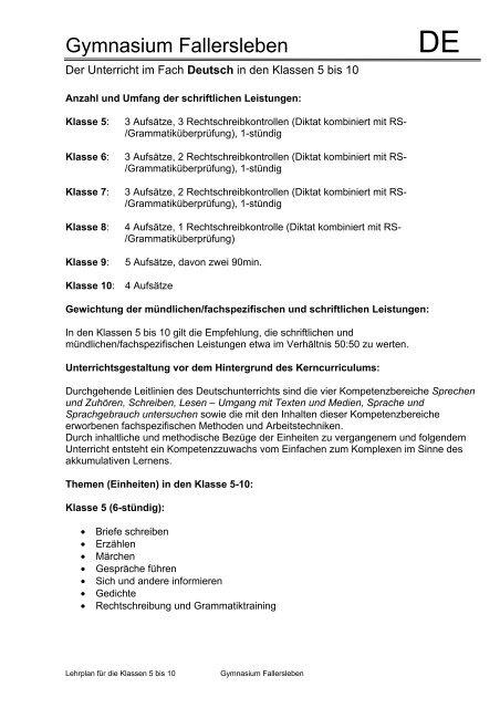 Gymnasium Fallersleben