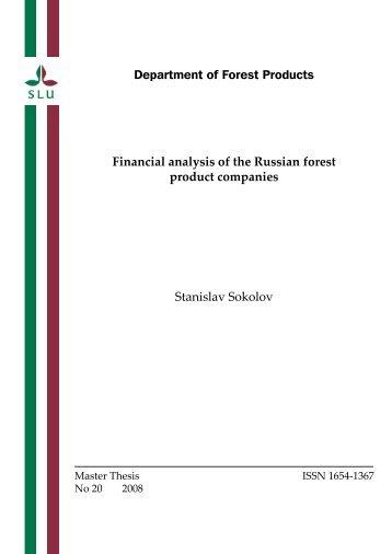 Financial analysis of the Russian forest product ... - Epsilon - SLU