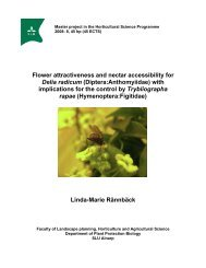 Master project in the Horticultural Science Programme - Epsilon - SLU