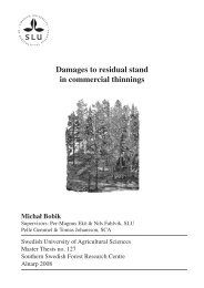 Damages to residual stand in commercial thinnings - Epsilon - SLU