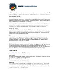 Poster Guidelines - Organization for Human Brain Mapping