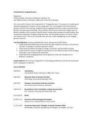 Introduction to Imaging Genetics - Organization for Human Brain ...