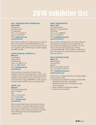 2010 exhibitor list - Organization for Human Brain Mapping