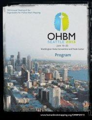 Program Book - Organization for Human Brain Mapping
