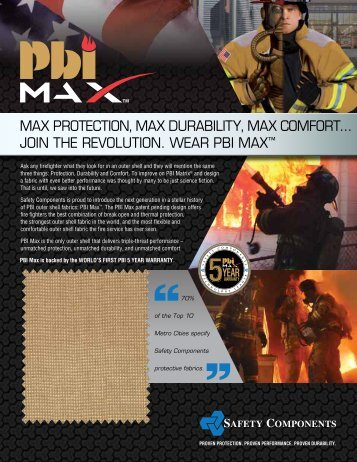 Max Protection, Max Durability, Max coMfort... Join the revolution ...
