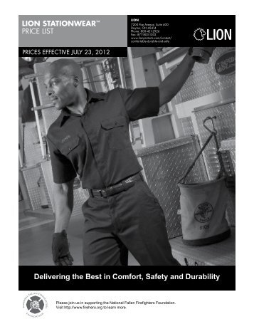Delivering the Best in Comfort, Safety and Durability - Lion Apparel