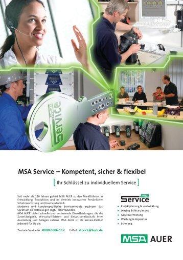 MSA Service – Kompetent, sicher & flexibel