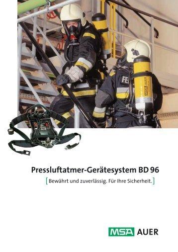 Pressluftatmer-Gerätesystem BD 96