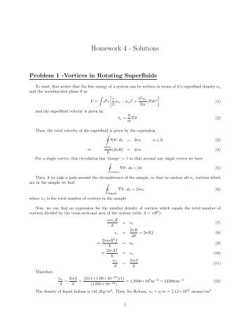 Homework 4 - Solutions - Physics Department, UCSB