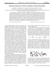 Temperature Dependence of Coherent Oscillations in Josephson ...