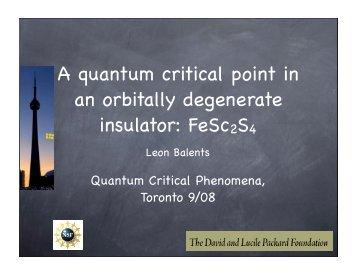 FeSc2S4 - Physics Department, UCSB
