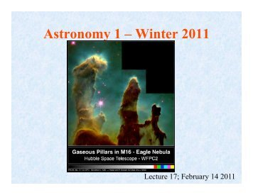 Astronomy 1 – Winter 2011 - Physics Department, UCSB