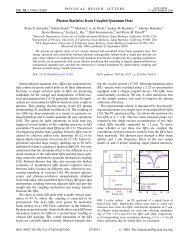 Photon Statistics from Coupled Quantum Dots - Physics Department ...