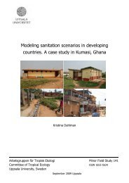 Modeling sanitation scenarios in developing countries. A case study ...