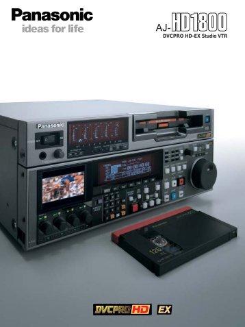Panasonic Brochure AJ-HD1800 (0,41 MB) - AF Marcotec