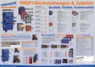 11 PROFI-Werkstattwagen und Zubehör - Projahn