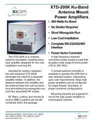 XICOM, XTD-200K Ku-Band Antenna Mount Power Amplifiers