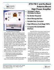 XICOM, XTD-750 C and Ku-Band Antenna Mount High Power ...