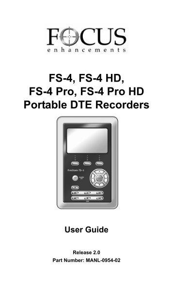 FS-4, FS-4 HD, FS-4 Pro, FS-4 Prod HD Portable DTE Recorders
