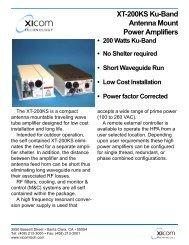 XICOM, XT-200KS Ku-Band Antenna Mount Power Amplifiers