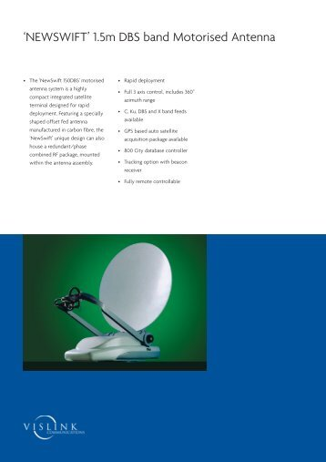 Vislink, NEWSWIFT 1.5m DBS band Motorised Antenna (0,48 MB)