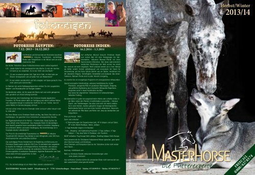 Katalog als Download - Masterhorse GmbH