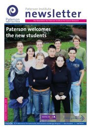 Winter 2007 - The Paterson Institute for Cancer Research - The ...